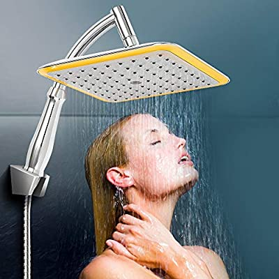 XLSTORE Square Rainfall Shower Head with Extens...