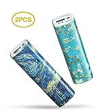 Luxtude myColors 2 PCS 5000mAh Batterie Externe pour iPhone, iPad, Samsung Galaxy, Huawei Autres téléphones Android, la Sortie de 2.4A Mini Power Bank avec Lampe de Poche, Chargeur Portable Compacte