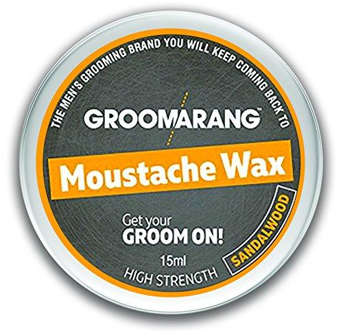 Groomarang Schnurrbart & Bart Wachs extrastarke Sandelholz 100% natürliche Haarpflege Bio & Vegan 15ml