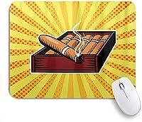 NIESIKKLAマウスパッド ユニークなシガーボックスポップアートスタイルスターバースト光線 ゲーミング オフィス最適 高級感 おしゃれ 防水 耐久性が良い 滑り止めゴム底 ゲーミングなど適用 用ノートブックコンピュータマウスマット