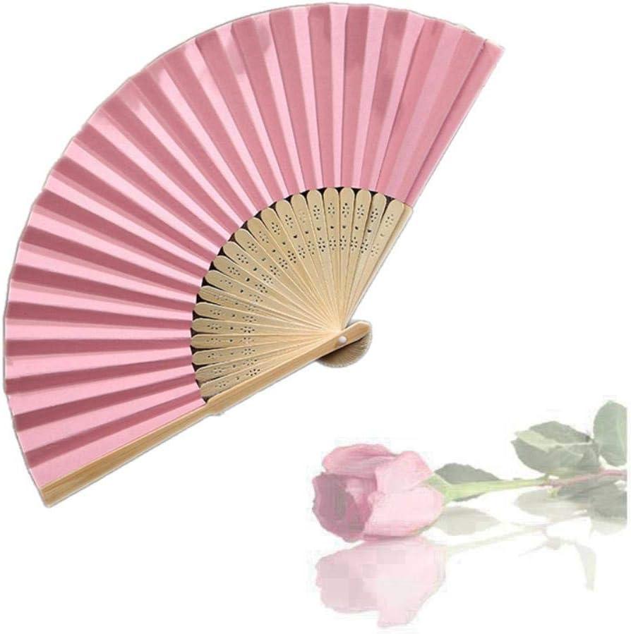 Éventail pliable en papier Motif cula 21 cm Rose Rouge