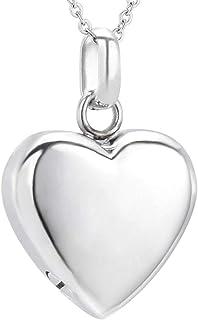 Plume Coeur Zircone Cubique Crémation Souvenir Memorial Urne en Acier Inoxydable Pendentif Chaîne