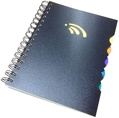 Side-Cuaderno espiral de notas adhesivas Cuadernos Los estudiantes diario del cuaderno de Bloc de notas Diario de viaje de Oficina de la Escuela dljyy