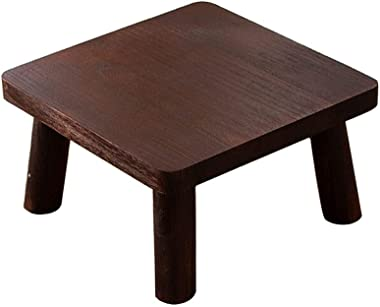 NYKK Bouts de canapé Table Basse Simple en Bois Petite Table Carrée Marron Et Naturel Table Basse (Color : Brown, Taille : 40