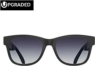 [Upgraded Version] Alien 5 Bone Conduction Glasses Bluetooth 4.1 Headphones Polarized Sunglasses Myopia Waterproof Wireless Headset Hearing Aid for iPhone HTC LG Samsung Matted Black (Gray)
