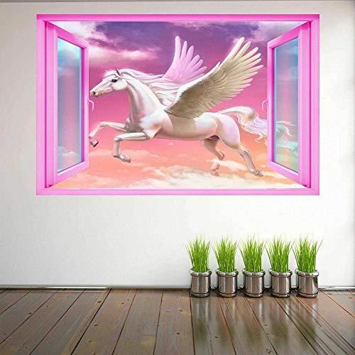 ZURA Pegatinas de arte de pared de Pegaso, calcomanía mural, póster autoadhesivo