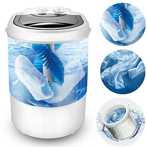 Mini lavadora portátil multifunción, tres funciones de lavado de zapatos, lavadora de ropa, centrifugado, capacidad de 4 kg, ideal para mini lavado