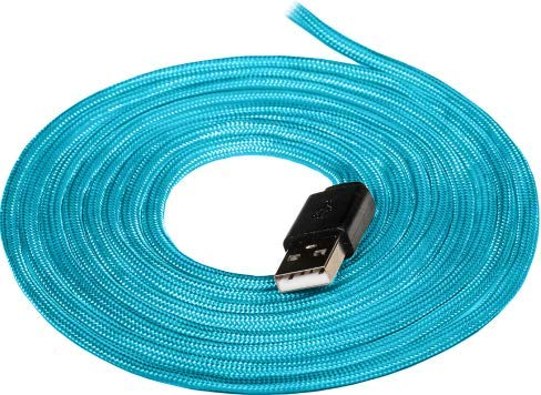 ZeroCable - Paracord Mouse Cable for Gaming Mice - Light & Flexible - Compatible with Most Gaming Mice - Game as If You were Using a Wireless Mouse - Turquoise