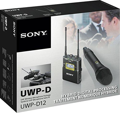 Sony UWP-D12 - Sistemas para micrófono inalámbrico (Micrófono de mano, RF inalámbrico, Receptor en cámara, Fijo, Transmisor de mano, 470-542 MHz)