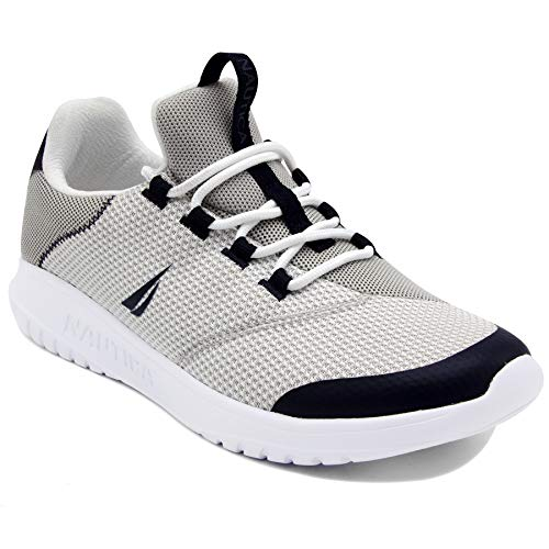 Nautica Men's Casual Fashion Sneakers-Walking Shoes-Lightweight Joggers-Knighton-Grey-13
