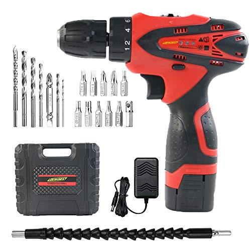 16.8V Compact Cordless Drill Driver Set Combi Lithium Ion Screwdriver LED Light Quick Change Battery 1500mAh