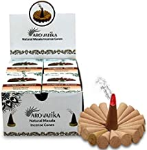 ARO VATIKA Vedic Dragon's Blood Natural Masala Incense Cones 120 Cones in Pack of 12 Boxes | Best for Prayer, Meditation a...