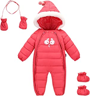 Ohrwurm Baby Winter One Piece Snowsuit with Hood Gloves Zipped Toddler Padded Sleepsuit