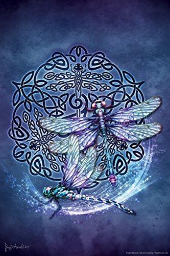 Celtic Dragonfly by Brigid Ashwood Cool Wall Decor Art Print Poster 12x18