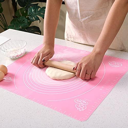 XMYNB Tabla de Cortar 2Pc 40X50Cm Cocina De Silicona Amasado De La Alfombra De La Masa Pastel De Galletas para Hornear Gruesas Tapetes Antideslizantes con Tablero Herramienta De Inicio