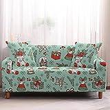 Fundas para Sofa 1 Plaza Fundas de Sofa Ajustables Elasticas Adaptables La Funda para Sofa Antideslizante Cubre Protector Sofa Gatos Arañazo Esquinero Calcetines De Dibujos Animados De Navidad