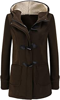 Abrigo de Invierno Mujer Chaqueta Casual Sudadera con Capucha Caliente con Bolsollas Pullover Grueso Outwear Capa Jacket P...