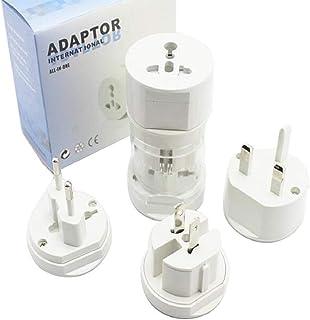 Travel Adapter Plug Compact Worldwide International Kit - Works in Australia,New Zealand,Argentina,Europe, Asia,Africa, No...