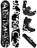 Airtracks Snowboard Set - Wide Board REFRACTIONS Game 155 - Softbindung Star - Softboots Star SCHWARZ 43 - SB Bag