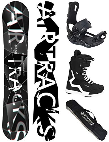 Airtracks Snowboard Set - Wide Board REFRACTIONS Game 155 - Softbindung Master - Softboots Strong 45 - SB Bag