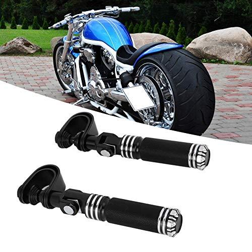 Motorrad Chopper Universal Sturzbügel Fußrasten Sundance schwarz Lenkerpedale Halterung Fußstützenhalterung Universal