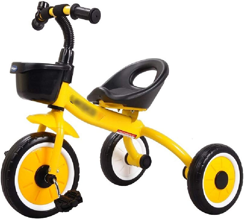 Jiamuxiangsi Bébé   Vélo Vélo Bébé Jouet Garçon Fille Premier Vélo Cadeau d'anniversaire Enfant Tricycle Amortisseur Vélo Vélo Wheeler Roue Libre Vélo bébé (Couleur   jaune)
