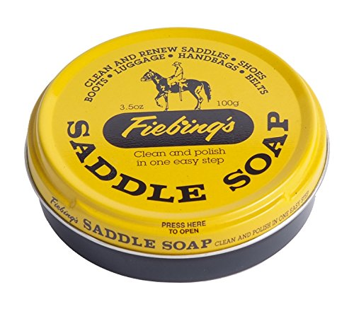 Fiebing\'s 055012 Sattelseife, 100 ml. -Gelb – reinigt, erweicht und konserviert Leder, 3.5 oz