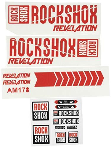 bester Test von rock shox revelation Eco Shirt 7I-6T2E-I2ZQ Gabelaufkleber RockShox Revelation 2018 Am178 Aufkleber Aufkleber Gabel Rot