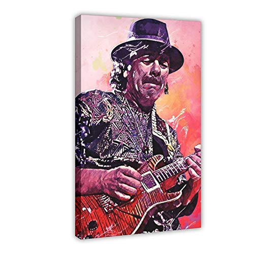 CARLOS SANTANA Gitarre Sänger Leinwand Poster Schlafzimmer Dekor Sport Landschaft Büro Zimmer Dekor Geschenk Rahmen: 60 × 90 cm