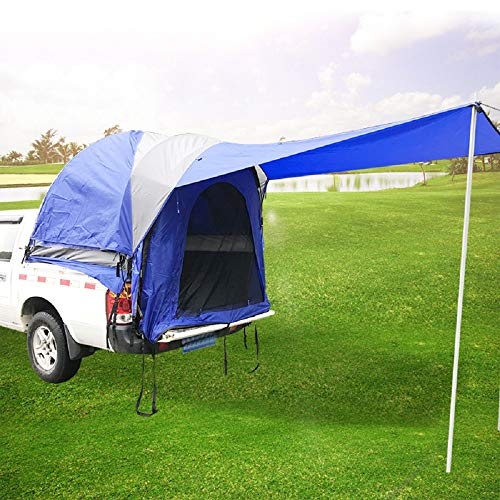 Mein LAY Waterproof Double Layer Full Size Truck Tent 5.5 Foot Car Pickup Trolley Bed Tent with Floor for Sleeping...