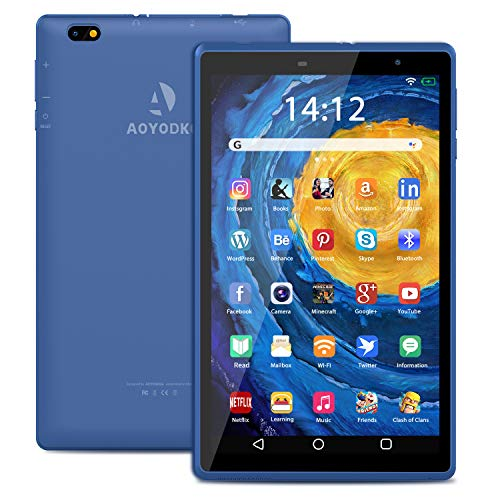 Android 10 Tablet PC 8 Inch Tablets,Quad-Core Pad with 3GB RAM 32 GB ROM,5MP Rear Camera|HD Display|1.6Hz WIFI|1280x800 HD IPS Screen|Google Certified.(blue)
