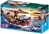 Playmobil piratenroeiboot met hamerhaai