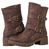 GLOBALWIN Women's 19YY19 Brown Fashion Boots 9M