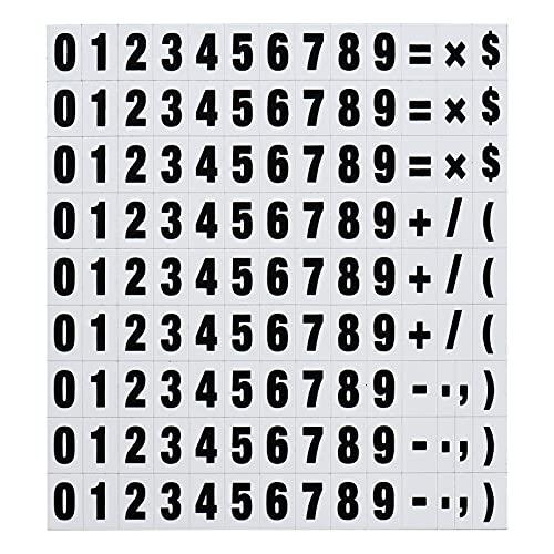 Fesjoy Numero magnetico,120 Piezas de números magnéticos, imanes de operación matemática, Indicadores de Fechas de Calendario para Nevera de Pizarra Blanca