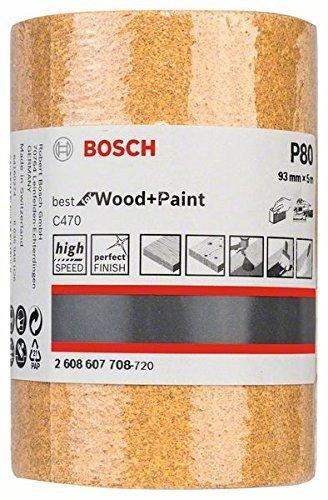 Rouleau Abrasif Paiper C470 pour Ponçage Manuel, Grain 80, 93mm x 5m