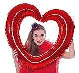 Globo con forma de corazón rojo