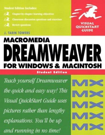 Macromedia Dreamweaver MX for Windows and Macintosh: Visual QuickStart Guide, Student Edition