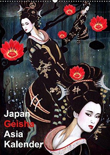 Geisha Asia Japan Pin-up Kalender (Wandkalender 2019 DIN A2 hoch): Asiatische Geisha Zeichnungen im Burlesque Stil (Monatskalender, 14 Seiten )