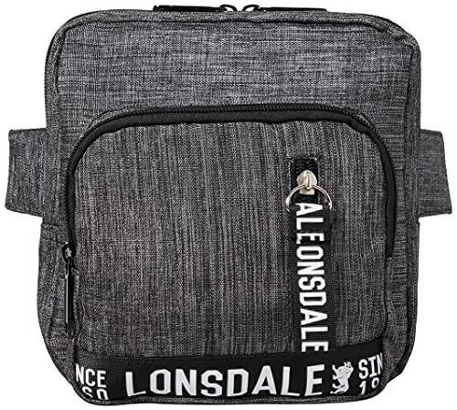 Lonsdale Ludlow Bumbag Hüfttasche Bauchtasche Gürteltasche für Damen und Herren Umhängetaschen Umhängetasche Man Women Purse, Charcoal