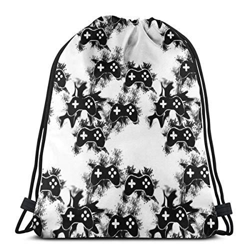 orangefruit Kordelzug Rucksack Splatter Controller 3D-Druck String Bag Sackpack Cinch Tragetaschen Geschenke für Frauen Männer Fitnessstudio Einkaufen Sport Yoga