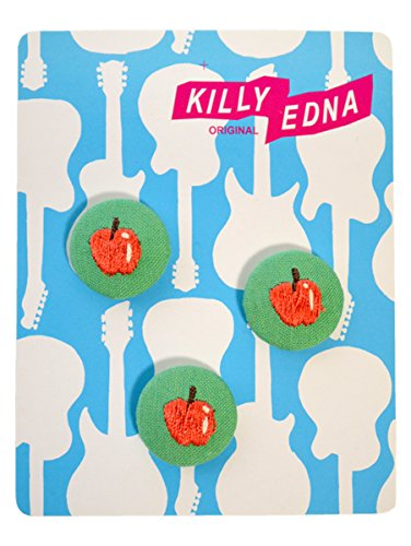 KILLYEDNA(キリィエドナ) 刺繍くるみボタン キリーズマーブル 3個セット20mm りんご