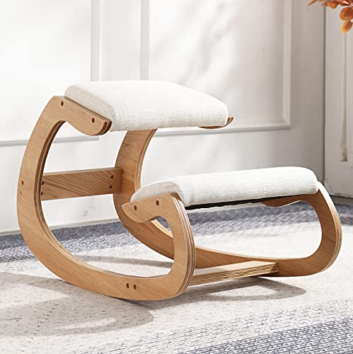 sedia ergonomica ginocchio Sedia ergonomica in ginocchio in betulla sgabello per computer rilassa le ginocchia con cuscino in spugna