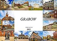 Grabow Impressionen (Tischkalender 2022 DIN A5 quer): Bezaubernde zwoelf Bilder der Stadt Grabow (Monatskalender, 14 Seiten )