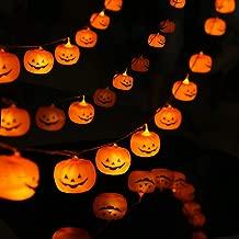 KAILEDI Halloween String Lights, LED Pumpkin Lights, Holiday Lights for Outdoor Decor,2 Modes Steady/Flickering Lights(20 One Pumpkin Lights, 9.8 feet) (Pumpkin)