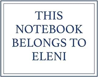 This Notebook Belongs to Eleni