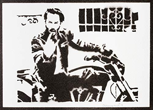 John Wick Poster Keanu Reeves Plakat Handmade Graffiti Street Art - Artwork