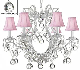 crystal chandelier white