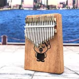 SFFSM 17 Tecla Kalimba acrílico Pulgar Piano 17 Teclas del Teclado Transparente Mbira Instrument Tuner Martillo Funda Kimi Calimba de Piano (Color : Piglet)