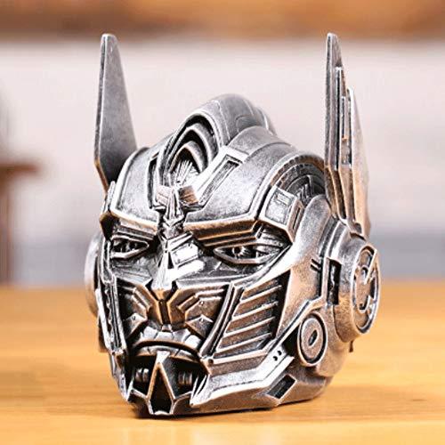 Mopoq Transformers 5 Optimus Prime Cenicero con Tapa Nuevo Modelo extraño Resina Crafts Holiday Creative Exquisite Fashion Gifts (Color : Plata)