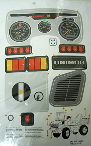 Rolly Toys Aufkleber Sticker Set Unimog
